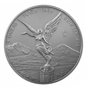 5 oz Silber Libertad Mexiko 2018/2019 Antiqued Finish in Kapsel ( max 1.000 ) ( diff.besteuert nach §25a UStG )