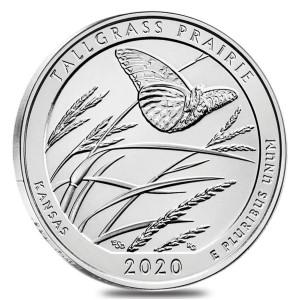 """5 oz Silber USA """" America the beautiful """" Kansas - Tallgrass Prairie ( diff.besteuert nach §25a UStG )"""