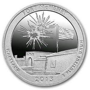 "5 oz Silber USA "" America the beautiful "" Maryland - Fort McHenry ( inkl. gültiger gesetzl. Mwst )"