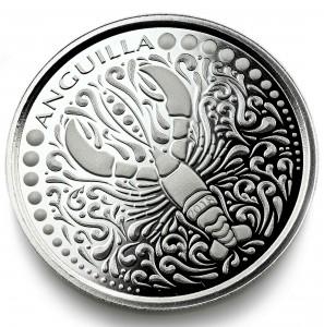 "1 oz Silber Anguilla "" Lobster "" Scottsdale Mint / Prooflike in Kapsel ( diff.besteuert nach §25a UStG )"