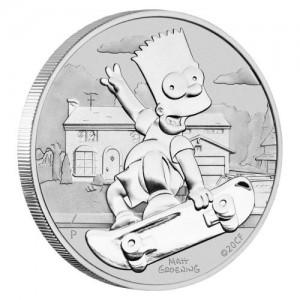 "1 oz Silber Perth Mint "" Bart Simpson "" in Kapsel - max 25.000 ( diff.besteuert nach §25a UStG )"