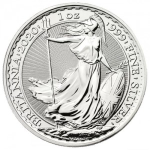 25 X 1 oz Silber Britannia 2020 ( diff.besteuert nach §25a UStG )