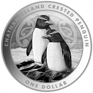 1 oz Silber New Zealand Post Crested Penguin 2020 in Kapsel max 25.000 ( diff.besteuert nach §25a UStG )