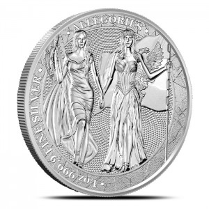 1 oz Silber - 5 Mark The Allegories Columbia & Germania BU 2019 - max. 25.000  - ( inkl. gültiger gesetzl. Mwst )