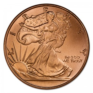 1 oz Fine Copper / Kupfer Liberty USA ( inkl. 19 % Mwst )
