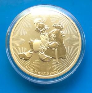 """1 oz Gold """" Dagobert Duck """" / Scrooge McDuck Disney Serie"""