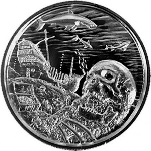"2 oz Silber Ultra High Relief "" Davy Jones Locker  "" ( inkl. gültiger gesetzl. Mwst )"