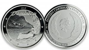 """1 oz Silber Dominica """" The Nature Isle """" Scottsdale Mint / Prooflike in Kapsel ( diff.besteuert nach §25a UStG ) - max 25.000 Stk"""