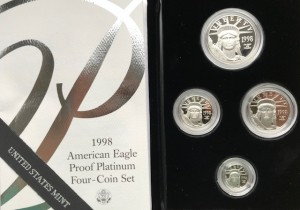 1.85 oz Platin Proof Eagle Set USA 1998 in Kapseln / BOX / COA( diff.besteuert nach §25a UStG )