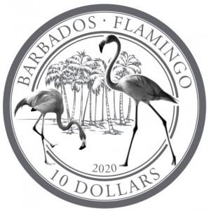 "1 oz Platin Barbados "" Flamingo 2020 "" in Kapsel / BOX / COA - max 100 Mintage ( inkl. gesetzl. Mwst )"