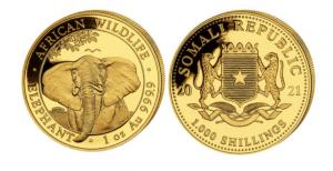 1 oz Gold Somalia Elefant 2021
