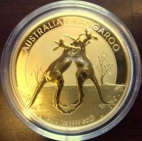 1/4 oz Gold Känguru in Kapsel ( div. Jahre )