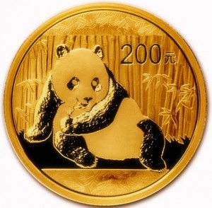 1/2 oz Gold China Panda in Folie ( div. Jahrgang )