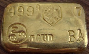 100 Gramm Gold Barren SMS / Schoene ( gegossen ) - YZ40