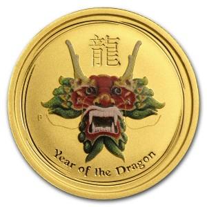 """1/20 oz Gold Perth Mint """" Green Dragon """""""