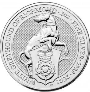 "10 x 2 oz Silber Royal Mint / United Kingdom "" White Greyhound of Richmond "" ( diff.besteuert nach §25a UStG )"