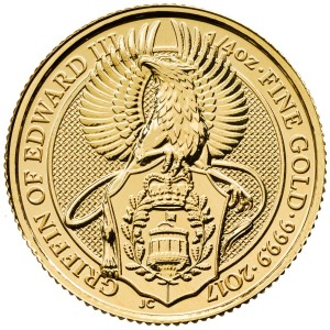 "1/4 oz Gold Royal Mint / United Kingdom "" Griffin """
