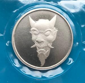 1 oz Silber Hannya / Devil Mask No.1 in Folie ( 19% Mwst )
