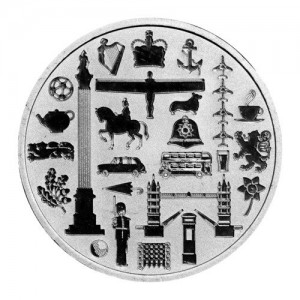 1 oz Silber UK JBR ( LBMA ) - Icons of Britain ( inkl. gültiger gesetzl. Mwst )