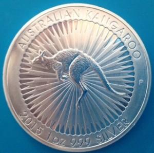 1 oz Silber Känguru Perth Mint 2015 - erster Jahrgang - max. 300.000 ( diff.besteuert nach §25a UStG )