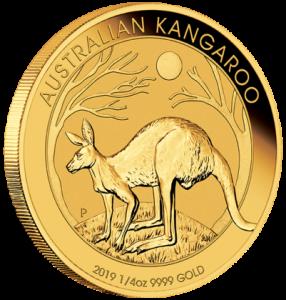 1/4 oz Gold Känguru in Kapsel ( div Jahre )