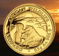 0.5 Gramm Gold Polierte Platte Somalia Leopard Somalia 2019 - max 5.0000