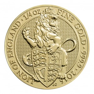 "1/4 oz Gold Royal Mint / United Kingdom "" Lion of England """