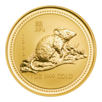 1 oz Gold 1996 Ratte Lunar I in Kapsel