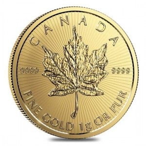 1 Gramm Gold Maple Leaf 2021