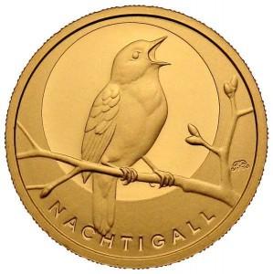 "1/8 oz Gold "" Nachtigall "" in Kapsel / COA"