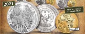 1 oz Silber Ruanda Okapi 2021 BU in Folie ( inkl. gültiger gesetzl. Mwst )