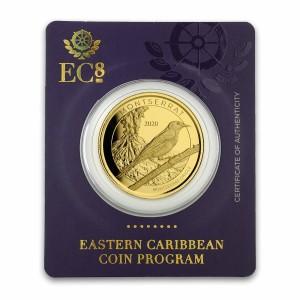 "1 oz Gold BU Montserrat "" Oriole ""  2020 Scottsdale Mint / in Blister ( Auflage 2.500 )"