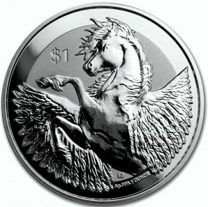 "1 oz Silber British Virgin Islands "" Pegasus 2019 "" Reverse Frosted  ( diff.besteuert nach §25a UStG )"