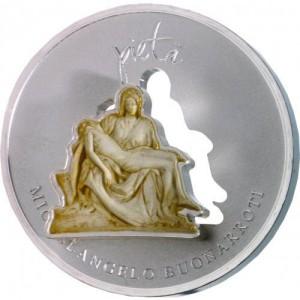 1 oz 925/1000 Silber Divine Sculptures Michelangelo's Pieta - max. 1000 Stk ( inkl. gültiger gesetzl. Mwst )