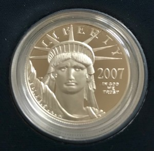 1 oz Platin Proof Eagle USA 1998 in Kapsel ( diff.besteuert nach §25a UStG )
