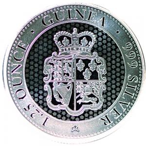 "1,25 oz Silber St. Helena "" Rose Crown "" ( diff.besteuert nach §25a UStG )"