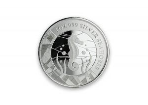 1 oz Silber Prooflike Samoa Seahorse / Seepferdchen 2018 - erste Ausgabe in Kapsel - max. Mintage 30.000 ( diff.besteuert nach §25a UStG )