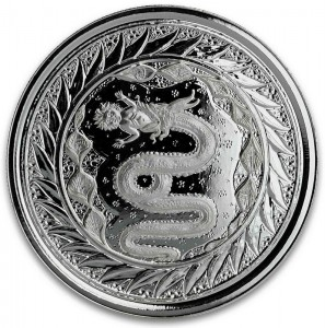 "1 oz Silber Samoa "" Serpent of Milan "" Scottsdale Mint / in Kapsel - max 15.000 ( diff.besteuert nach §25a UStG )"