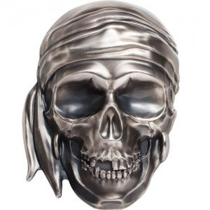 500 Gramm Silber Palau Pirate Skull Antique finish inkl. Box - max. 555 Stk ( diff.besteuert nach §25a UStG )