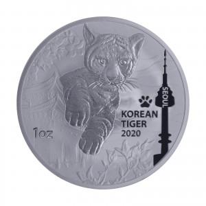 1 oz Silber Korean Tiger 2020 - max 33.000