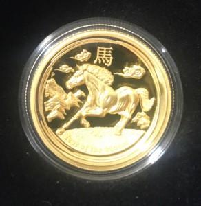 1 oz Gold Australien Ultra High Relief Pferd inkl. Box / COA - max. 388