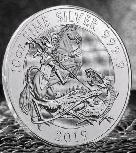 "10 oz Silber Royal Mint  "" Valiant / Tapferkeit 2019 - 2te Ausgabe "" in Kapsel ( diff.besteuert nach §25a UStG ) - United Kingdom"