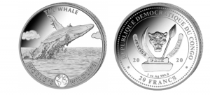 "1 oz Silber Congo Wal 2020 "" World's Wildlife "" - max 30.000 ( diff.besteuert nach §25a UStG )"