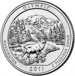 "5 oz Silber USA "" America the beautiful "" Washington Olympic National Park -  ( diff.besteuert nach §25a UStG )"