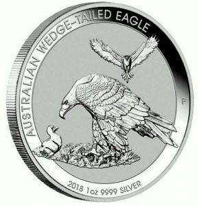 "1 oz Silber Australien Wedge-Tailed Eagle 2018 "" Perth Mint "" ( diff.besteuert nach §25a UStG )"
