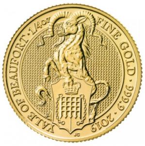 "1/4 oz Gold Royal Mint / United Kingdom "" Yale of Beaufort """