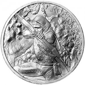 "1 oz Silber "" Mittelalter-Serie "" Robin Hood erste Ausgabe ( 19% Mwst )"