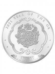 """1 oz Silber Bhutan """" Ox / Ochse 2021  """"  ( diff.besteuert nach §25a UStG )"""