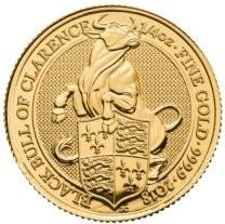 "1/4 oz Gold Royal Mint / United Kingdom "" Black Bull of Clarence """