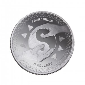 "1 oz Silber Tokelau "" Equilibrium 2020 "" Brilliant Uncirculated dritte Ausgabe ( diff.besteuert nach §25a UStG )"